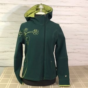 Kuhl Fleece Lined Soft Shell Hooded Jacket Small